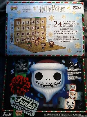 Funko advent calendar empty boxes NIGHTMARE BEFORE CHRISTMAS HARRY POTTER 2020