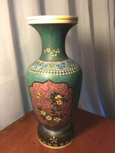 Japanese Meiji Totai  Shippo Cloisonne Kinkozan Satsuma Vase Scarce