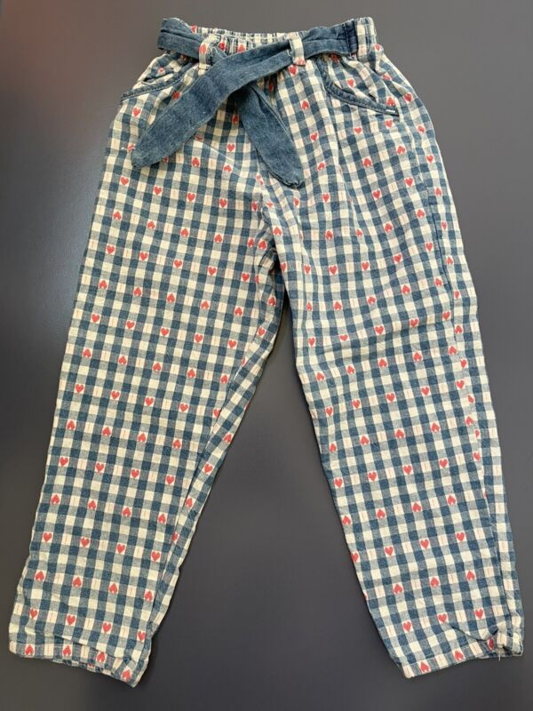 Vintage Floral Embroidered Pants Oshkosh B'gosh 💯% Cotton Size 5T