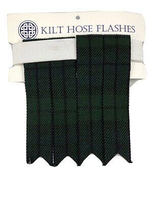 Kilt Black watch Flashes Wool Scottish Heritage Scotland