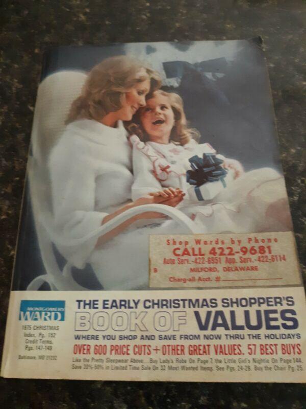 1975 VINTAGE Montgomery Ward Christmas Joy Wish Book gifts catalog