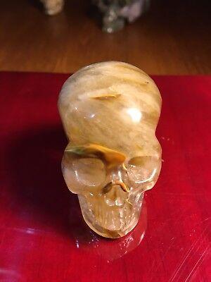 """2.0"""" Smelted Crystal Carved crystal Skull"""