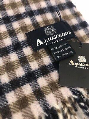 Aquascutum Pure Lambswool Scarf Classic House Check