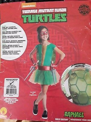 Ninja Turtles Girl Costumes (Girl's Mutant Ninja Turtles Dress Halloween Child Costume  Raphael SZ)