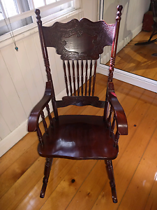 Antique Style Rocking Chair Harristown Toowoomba City Preview