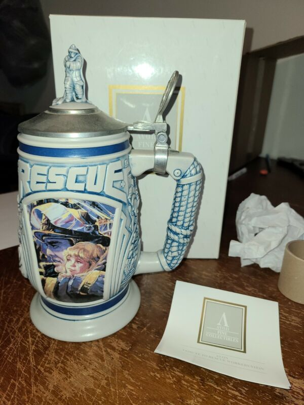 Avon Tribute To Rescue Workers Limited Stein With Box Nice 1997