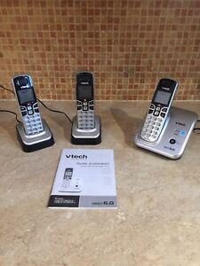 Téléphone 3 combinés et répondeur