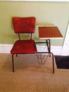 Retro Chair with Telephone Table