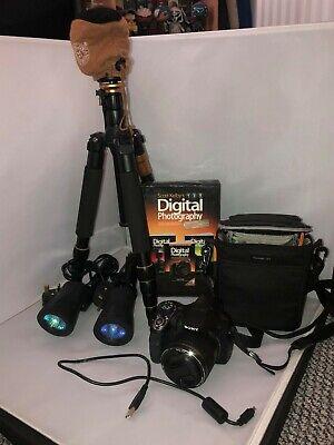 Sony Cyber-shot DSC-H400 20.1MP Digital Camera - Black w/extras