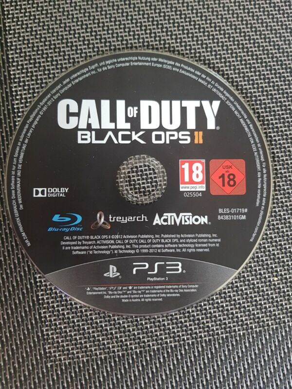 Call of Duty: Black Ops II (Sony PlayStation 3, 2012) NUR CD ohne Hülle