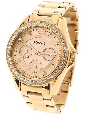 Fossil Women's Riley ES2811 Rose-Gold Stainless-Steel Analog Quartz Fashion W...