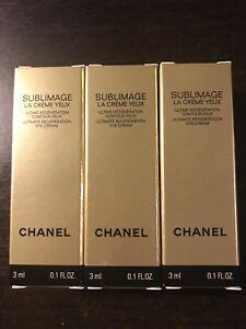 Chanel Sublimage La Creme Yeux Eye Cream 3ml / 0.1oz each - 3 tubes NEW FORMULA