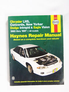 haynes repair manual chrysler lhs concorde new yorker dodge intrepid eagle  93/97