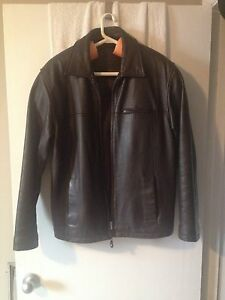 Profilo classic Men's leather coat Medium
