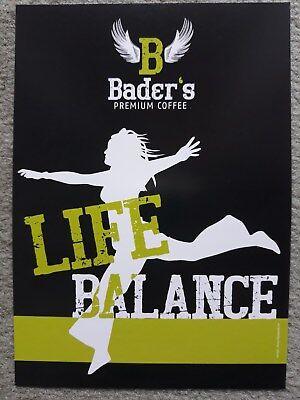 PK Werbepostkarte Bader's Premium Coffee Life Balance