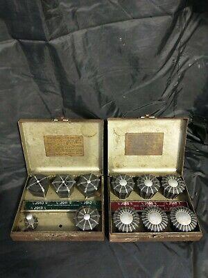 2 Jacobs Rubber Flex Collet Sets Wsteel Cases J10-j20