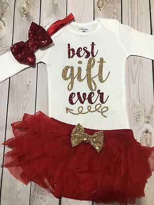 Christmas girl outfit, Christmas shirt baby girl, girls' clothing](Christmas Girl Outfit)