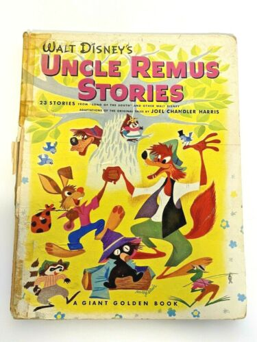 """Walt Disney Uncle Remus Stories Giant Golden Book 1946-47 """"Song of the South"""""""