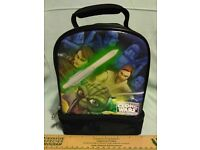 "STAR WARS The Clone Wars 16/"" School Backpack NWT new with tags Obi-Wan"