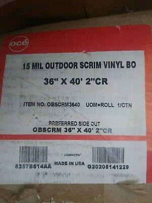 Oce Indooroutdoor Scrim Vinyl Banner 15 Mil Waterproof 36 X 40 Roll