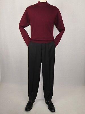 Knit Mock Neck Pullover - Mens Inserch Mock Neck Pullover Knit Soft Cotton Blend Sweater 4308 Burgundy new