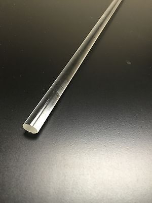 1 Pce 38 Dia .375 36 Long Clear Acrylic Plexiglass Rod Lucite
