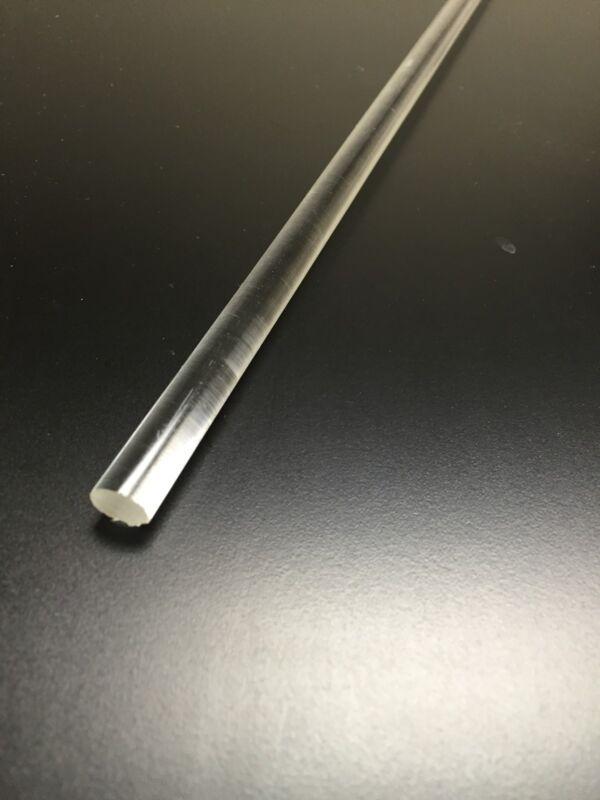 "(1 pce) 3/8"" dia (.375) 48"" long clear acrylic plexiglass rod  lucite"