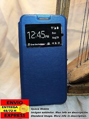 Coque Rabat Livre (Cover Etui) BQ Aquaris M4.5 [Bleu / Bleu]