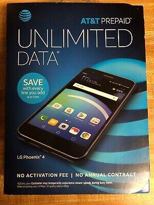AT&T Prepaid - LG Phoenix 4 - 16GB Memory Prepaid Cell Phone - Black