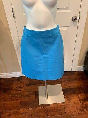 J. Mclaughlin Shoreline Blue Porter A- Line Skirt, Size 4, NWT