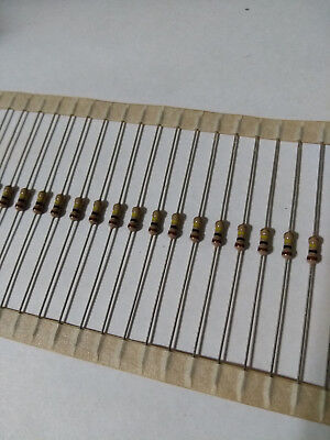 100pcs 100k Ohm Carbon Film Resistor 14w .25w 5