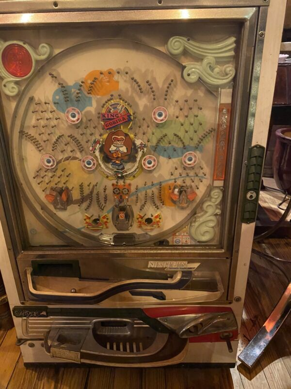 Vintage Pachinko Game Wood Large Needs Key