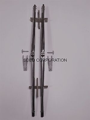 1970-1976 Chevrolet Camaro  W single arm Stainless High Luster Wiper Blades