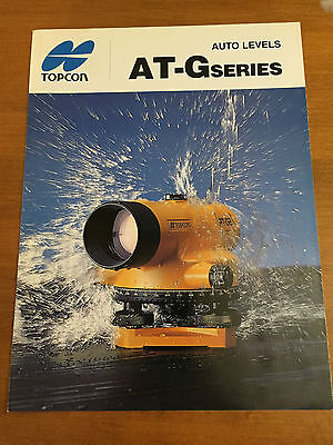 Topcon At-g Series Auto Levels Original Brochure Surveyor