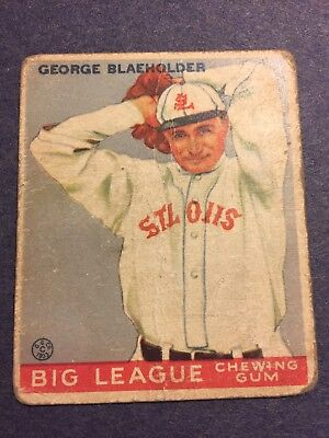 1933 Goudey Big League Chewing Gum # 16 George Blaeholder St. Louis Browns  ()