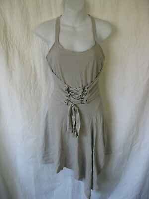 *Rare Grey Lip Service Straps of Mercy Strap Halter Dress dmg Zombie Cosplay M (Zombie Dress)