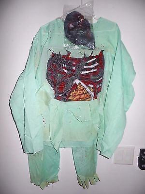 boys HALLOWEEN COSTUME size 8 to 10 ZOMBIE DOCTOR PANTS MASK TOP GROSS BONES - 10 Doctor Halloween Costume