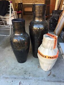 Glass Mosaic Tile Vases Set Earlwood Canterbury Area Preview