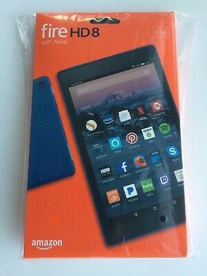 Marine Blue Amazon Kindle Fire Hd8   8  16Gb Wi Fi Tablet W Alexa  7Th Gen  2017