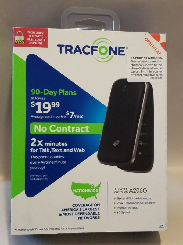 ALCATEL onetouch A206G. TRACFONE  • No Contract PREPAID PHONE