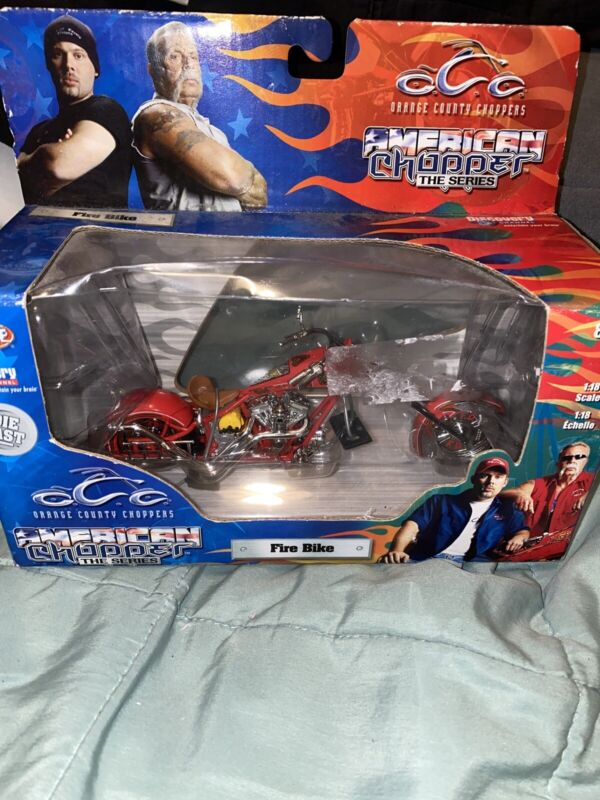 FIRE BIKE American Choppers / Orange County Choppers 1:18 Scale NIB