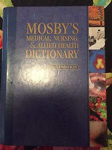 Mosby's medical, nursing and allied Heath dictionary 6th edition Angle Park Port Adelaide Area Preview