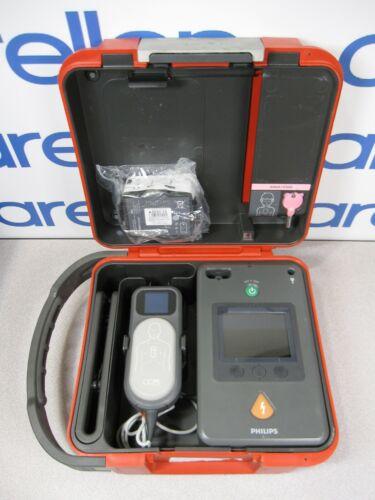 PHILIPS HEARTSTART FR3 AED BUNDLE: NEW 3-YEAR BATTERY, QCPR, Pedi Key, Hard Case
