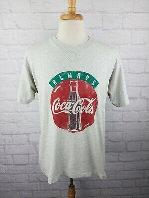 Vintage 80s 90s Always Coca Cola T Shirt Mens Size Large DISTRESSED Vtg
