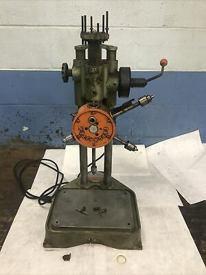Burgmaster Bench Top 6 Station Spindle Turret Drill Indexer