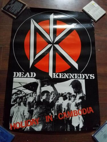 """Dead Kennedys HOLIDAY IN CAMBODIA Vintage Promo Poster 23"""" x 33"""" Full Size Punk"""