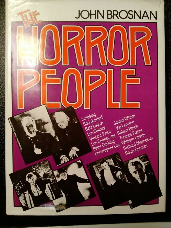 THE HORROR PEOPLE by John Brosnan 1976 Movie Book DRACULA THE EXCORCIST