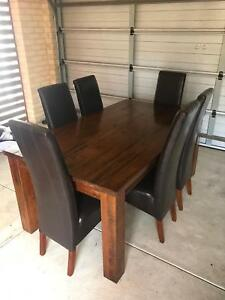 6 Seater wooden dining setting