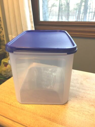 New Tupperware modular mates rectangle 3 container with blue seal