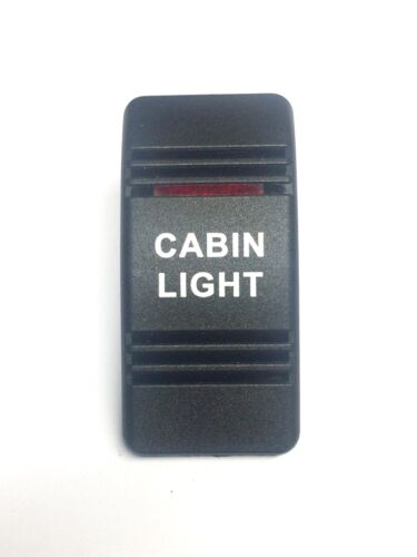 Euro Rocker Switch Cover- CABIN LIGHT. Black with Red Lens. Contura III. Fits...